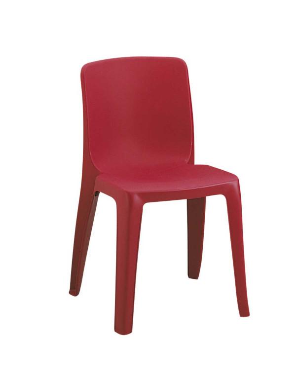 Chaise empilable Denver Assemblable M2 bordeaux