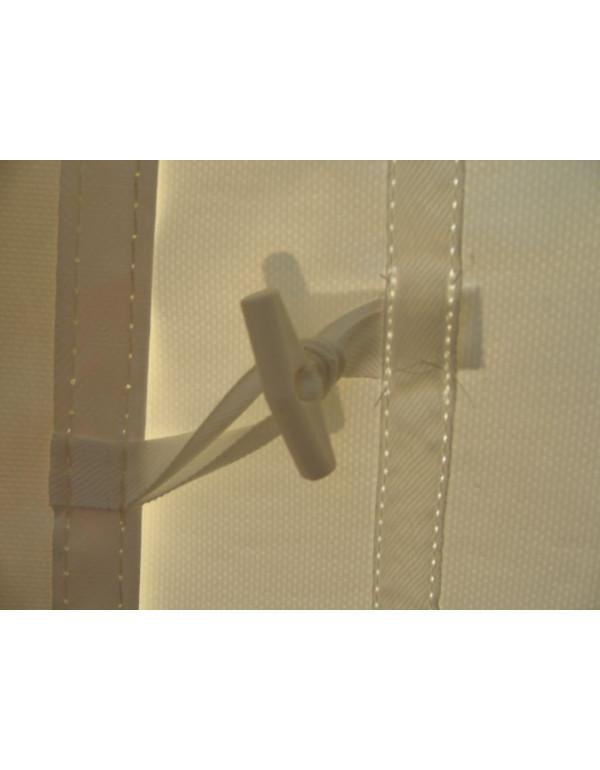 Barnum, tente de réception PLEIN AIR 5x8 complète - 40 m² - toit blanc