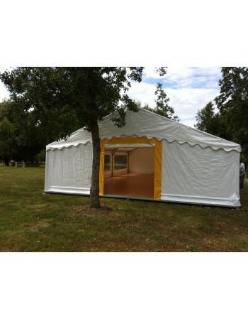 Barnum, tente de réception SUPER PLEIN AIR 8x8 complète - 64 m² - toit blanc