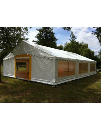 Barnum, tente de réception SUPER PLEIN AIR 8x12 complète - 96 m² - toit blanc