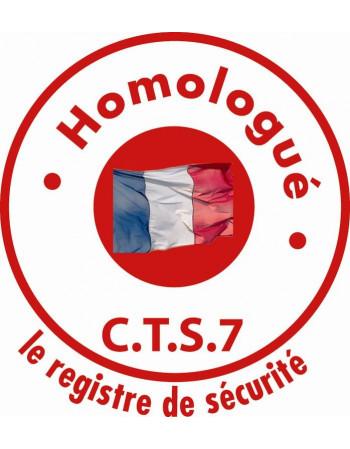 REGISTRE SECURITE TENTE SUPER PLEIN AIR 6 X 12