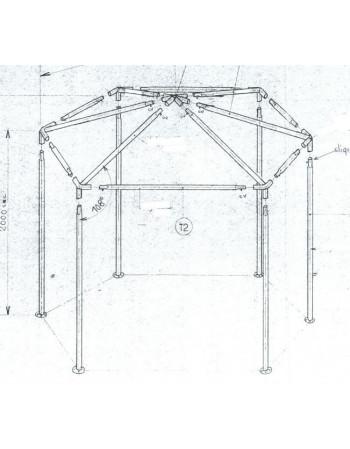 Armature stand hexagonal 12.5M²