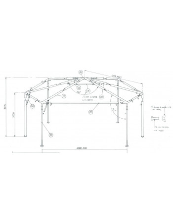 Armature stand hexagonal 42M²