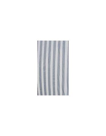 Rideau plein rayé gris/ blanc 4 m