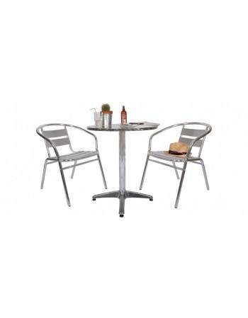 Table inox Ø 60