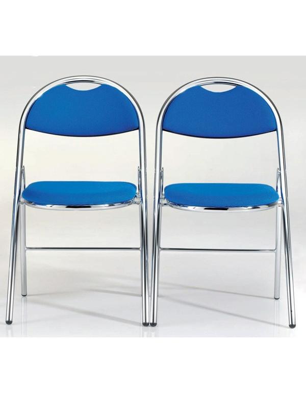 Lot de 2 chaises pliantes Hestia tissu sans accroche