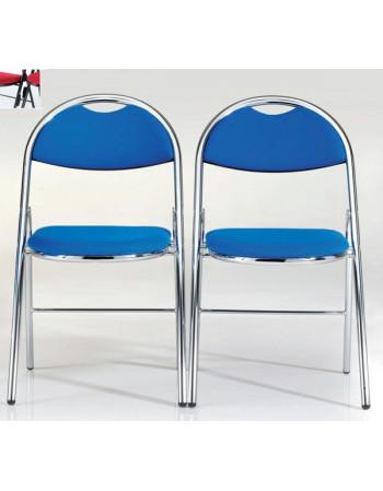 Lot de 2 chaises pliantes  Hestia tissu accrochables