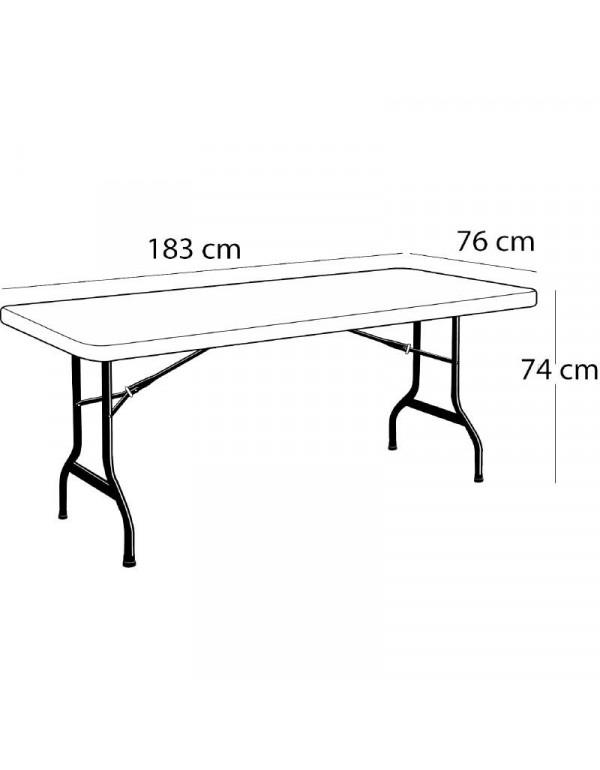 Table polyéthylène lifetime183 x 76 cm