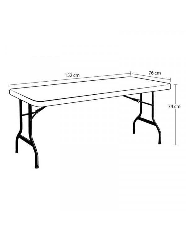 Table polyéthylène lifetime 152 x 76 cm