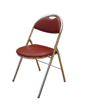 Chaise pliante Hestia Skaï sans accroche