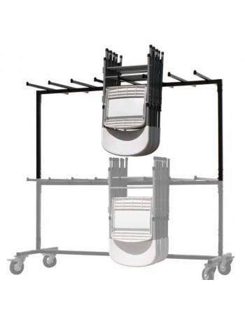 Réhausse pour chariot de chaises pliantes