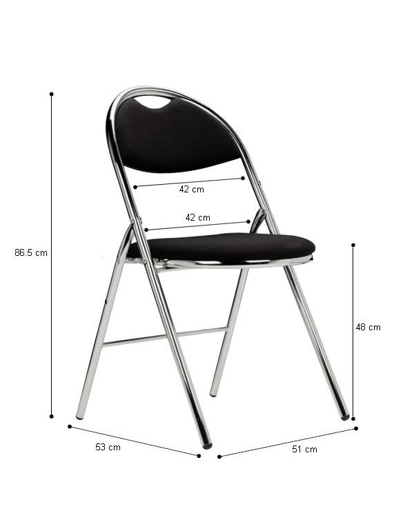 Chaise pliante Hestia tissu sans accroche