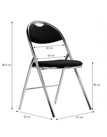 Chaise pliante Hestia skaï accrochable