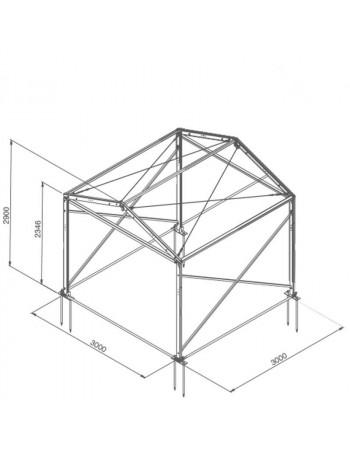 Base structure alu 3mx3m tension par barre