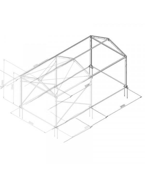 Additif structure alu 3mx3m tension par barre
