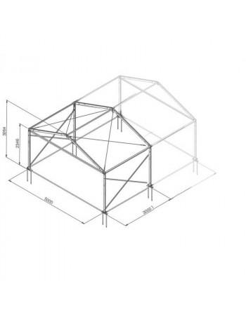 Base structure alu 5mx3m tension par barre
