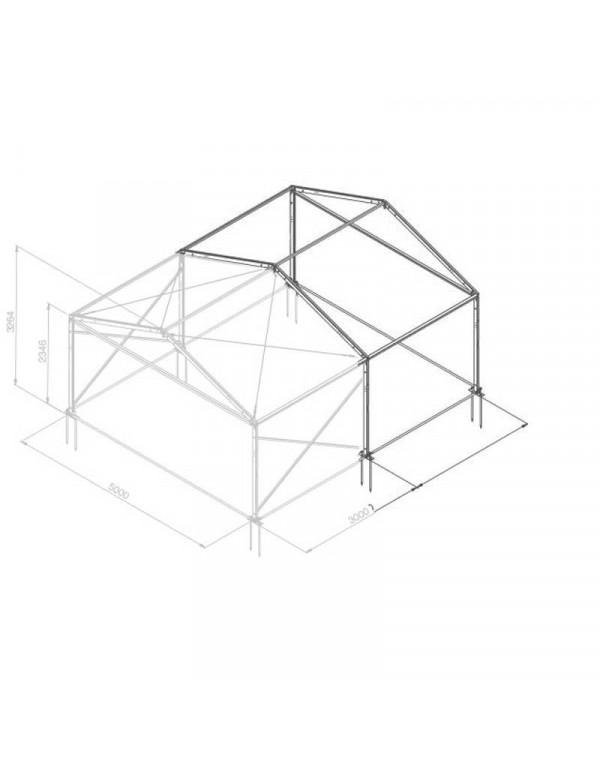 Additif structure alu 5mx3m tension par barre