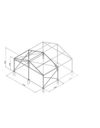 Base structure alu 6mx3m tension par barre