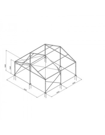 Tente de réception structure Alu 6 x 6 m complète