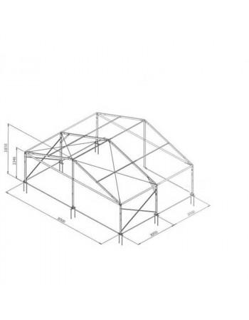 Base structure alu 8mx3m tension par barre