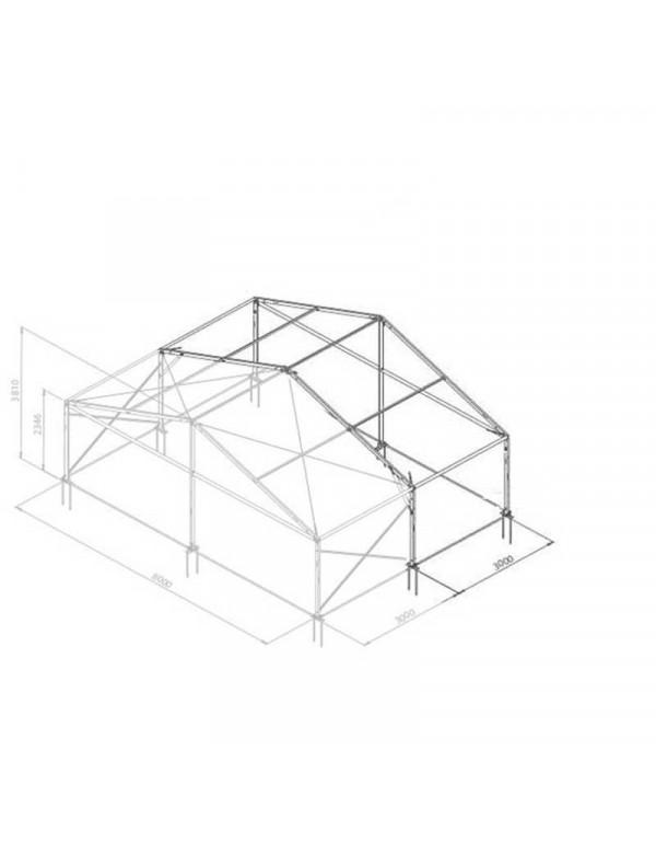 Additif structure alu 8mx3m tension par barre