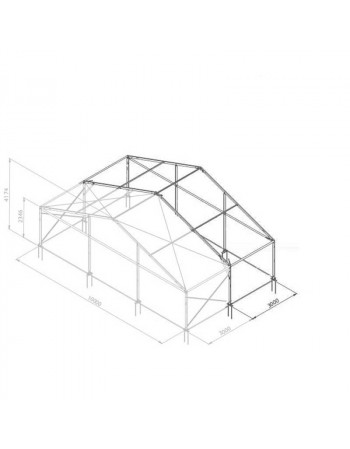 Additif structure alu 10mx3m tension par barre