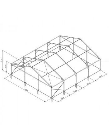 Tente de réception structure Alu 10 x 9 m complète