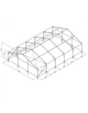 Tente de réception structure Alu 10 x 15 m complète