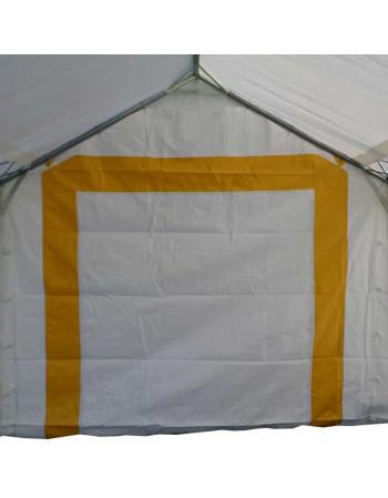 Pignon 3m avec porte+bande jaunes