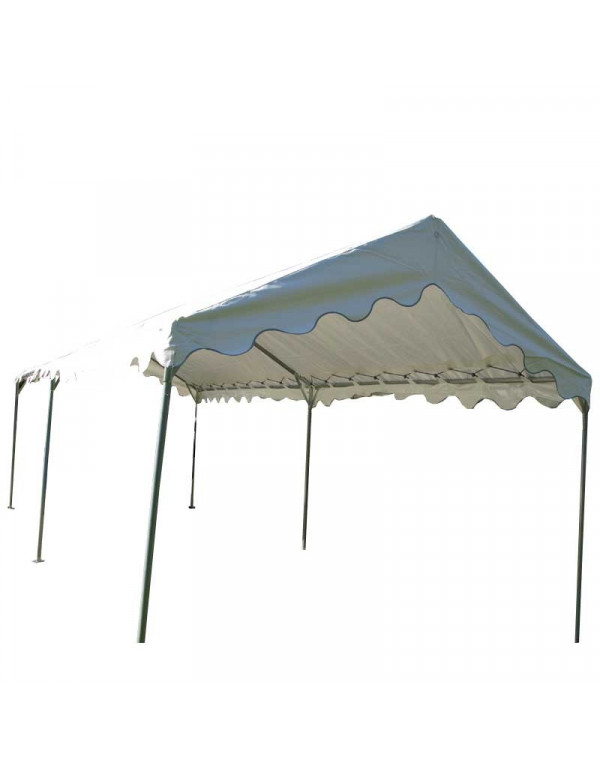 Barnum, tente de réception plein air 3 x 8 - 24 m² - Toit blanc + Armature