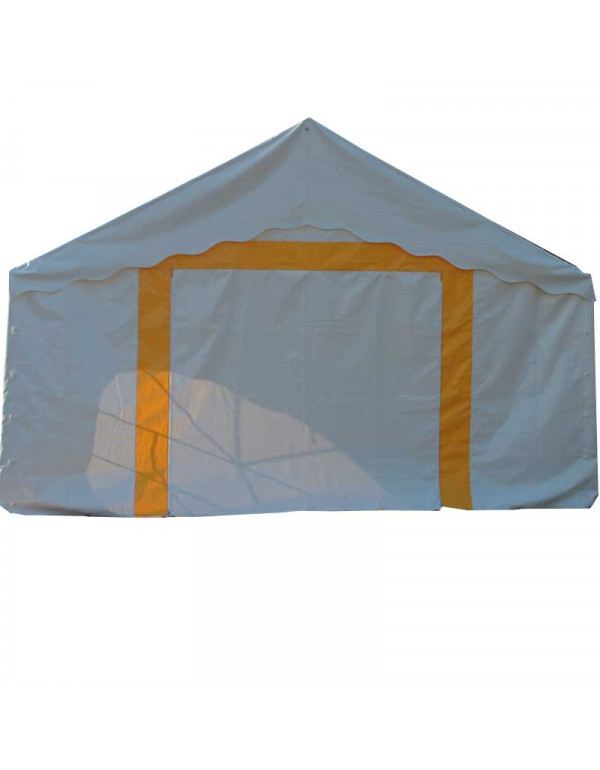 Pignon 5m avec porte + bandes jaunes