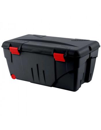Malle plastique 110 Litres noire