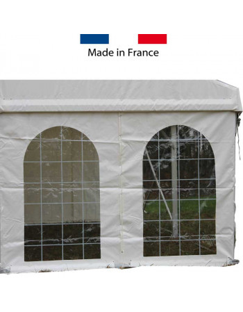 Rideau pignon fenêtre italienne structure 6 m