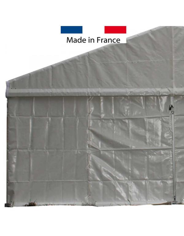 Rideau pignon blanc structure 6 m