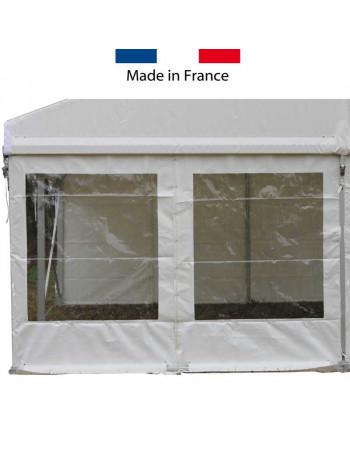 Rideau pignon fenêtre rectangulaire structure 6 m