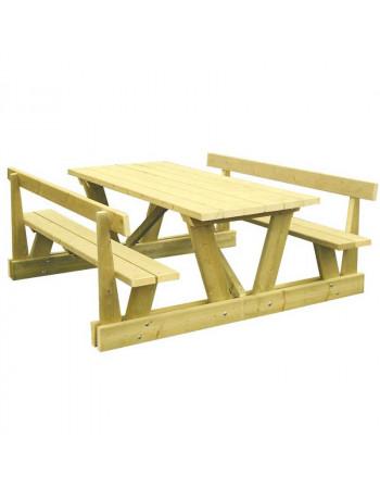 Table pique nique Séville avec dossier 200 cm