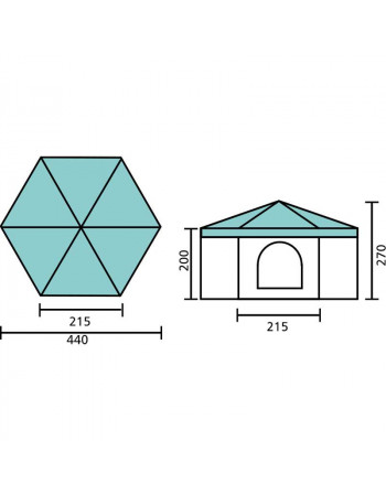 STAND HEXAGONAL 12,5 m² COMPLET
