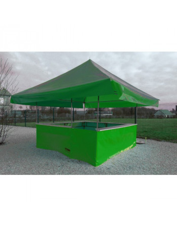 STAND BUVETTE 4.50 X 4.50  COLORIS ROUGE