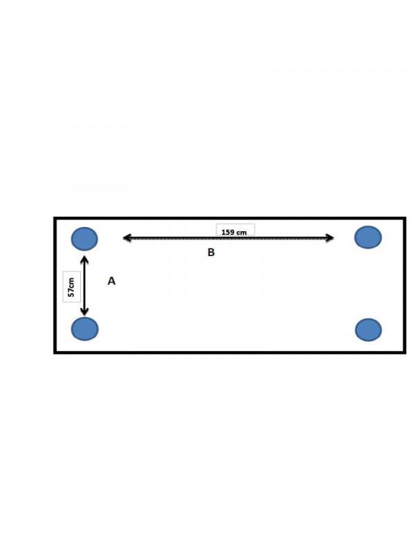 Table polyéthylène 183 x 76 cm