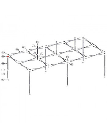 Croisillon mobile mât angle stand pro