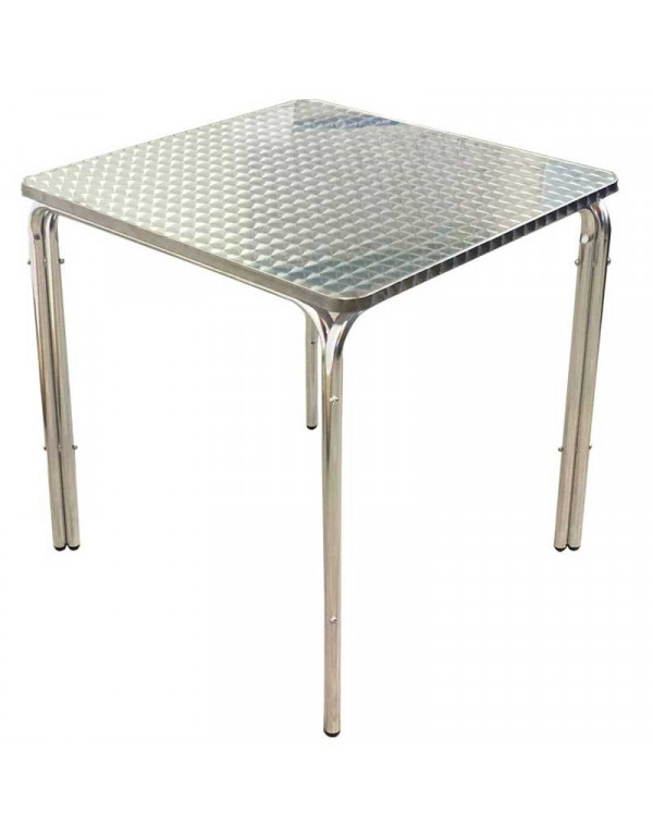 Table carrée inox 70 x 70 empilable