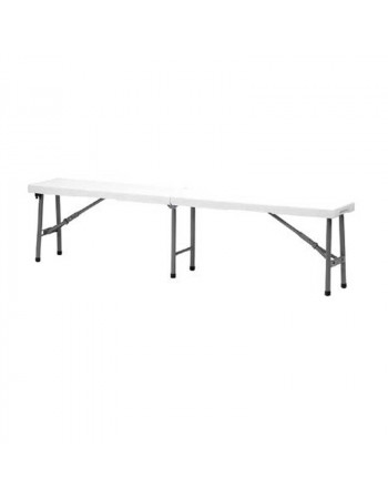 Banc polyethylène pliage central 184cm