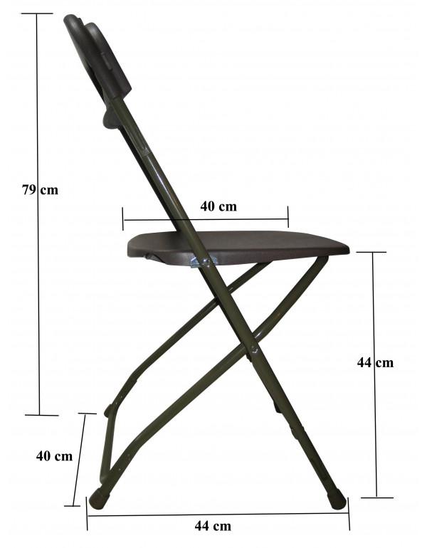 Lot de 24 chaises pliantes Vesta accrochables M2 anthracite