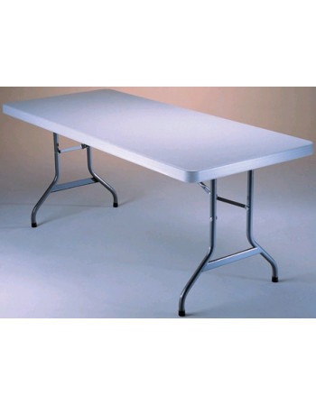 TABLE POLYETHYLENE RECTANGULAIRE 240x76