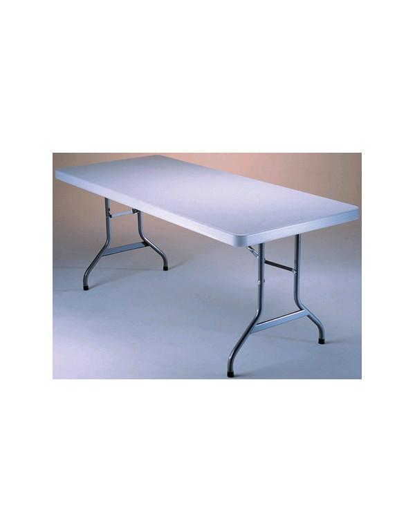 TABLE POLYETHYLENE RECTANGULAIRE 240x76