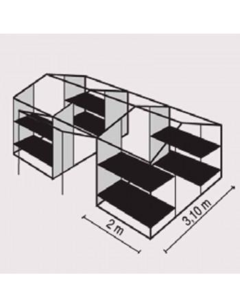 tente 8 places et lits