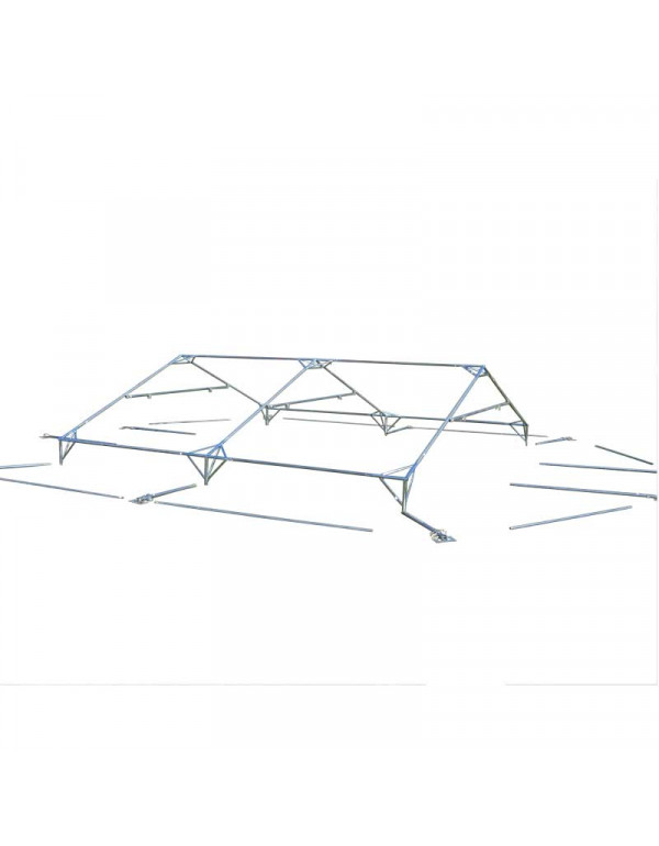Armature tente réception 8x8