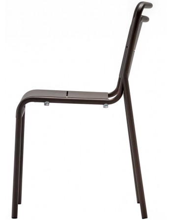Chaise metal bistrot - Bronze
