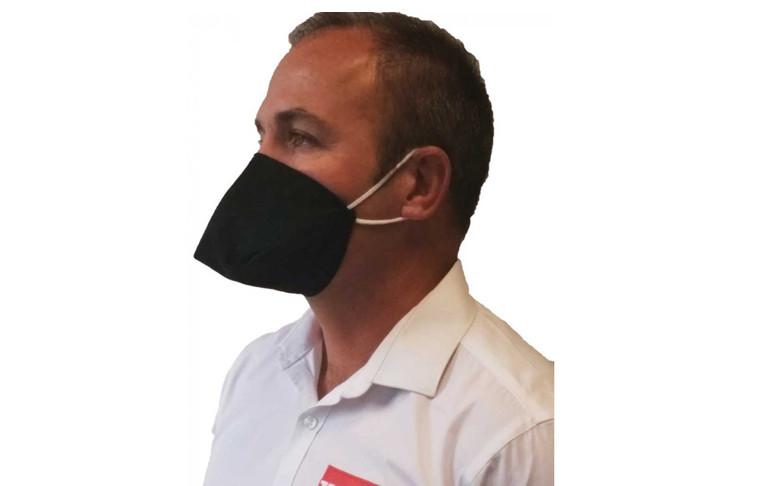Masque de protection et distributeur de gel hydroalcoolique
