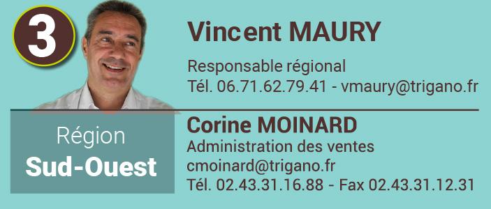 Vincent Maury Responsable commercial Sud-Ouest